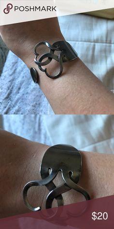 Beautiful Fork Heart Bracelet Silver fork heart bracelet super cute! Brand new! Adjustable to any wrist! Feel free to make offers Jewelry Bracelets