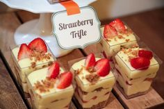 Boys Baking Birthday Party Food Strawberry Triffle Ideas