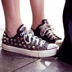 Studded Converse = classic gone chic