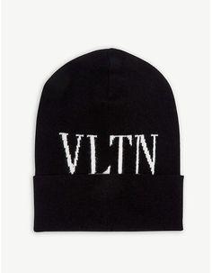 3aa42bf9db8 VALENTINO VLTN virgin wool beanie