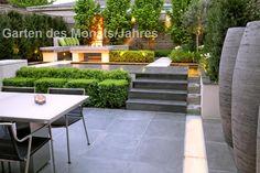 Garten des Monats/Jahres - Startseite - Garten des Monats Outdoor Rooms, Outdoor Furniture Sets, Outdoor Decor, Landscape Architecture, Landscape Design, Contemporary Garden Design, Cement Patio, Modern Backyard, Formal Gardens