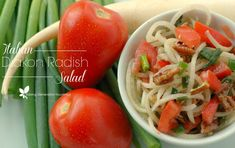 Quick and easy, this Italian diakon radish salad is the perfect way to get a load of veggies in with amazing flavor!