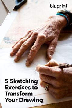 5 Sketching Exercises to Transform Your Drawing: These five drawing exercise were picked to grow your skills and help you mix it up to expand your artistic ideas! Try one or all 5 and see what happens… #drawing #drawingideas #draw #sketchingideas #sketching #mybluprint