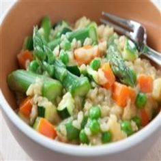 Brown Rice and Vegetable Risotto Allrecipes.com