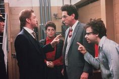 "William Atherton, Annie Potts, Harold Ramis and Rick Moranis, ""Ghostbusters"", 1984"