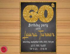 60th Birthday Invitation // Printable // by CutePartyDecorations