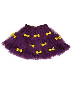 Ej Sikke Lej swirly purple tulle skirt with cute yellow bows. ej-sikke-lej.en.emilea.be