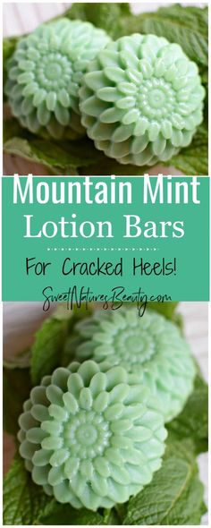 DIY Skin Care Recipes : Picture Description These Mountain Mint Lotion Bars are great for dry feet and cracked heels! With a mint lotion bar aroma you'll feel like you're at a spa. Make the Mountain Mint Lotion Bars to naturally hydrate dry skin. Diy Lotion, Lotion Bars, Beauty Care, Diy Beauty, Beauty Hacks, Beauty Skin, Face Beauty, Beauty Ideas, Beauty Women
