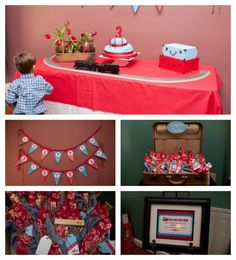 Vintage train themed party