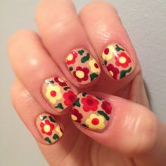 """more floral """"toothpick"""" nails"""
