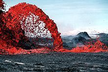 Fountain of lava