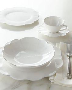 20-Piece Scallop Dinnerware Service at Horchow. & Emma 16-Piece Soup Bowl Set - White   Pinterest   Dinnerware ...