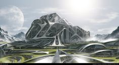 NMP-City | Designer: Worakarn Kaewchaiyo. This looks like the Fortress of Solitude of designed by Zaha Hadid.