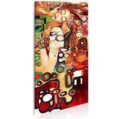 """Artystyczny obraz inspirowany sztuką Klimta i jego najsłynniejszego obrazu """"Pocałunek"""". Oryginalny projekt artystów bimago. Obraz ręcznie malowany na płótnie."""