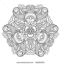 Abstract Object Isolated On White Background Ethnic Decorative Element