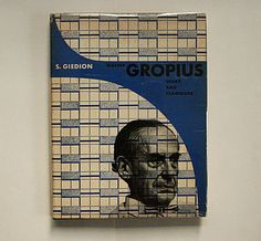 Sigfried Giedion: Walter Gropius. Max E. Neuenschwander, Switzerland / issued by Reinhold publishing corporation, 1954. Printer: Buchdruckerei Union AG., Solothurn. Size: 26 x 20 cm. The impressum credits Herbert Bayer only for the design of the photomontage jacket.