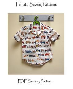 Boy's shirt pattern The Thomas Shirt pdf sewing pattern, shirt pdf pattern for 2 to 14 years old. Hawaiian Shirt children's sewing pattern by FelicityPatterns on Etsy https://www.etsy.com/listing/157990797/boys-shirt-pattern-the-thomas-shirt-pdf