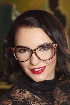 Customized cat eyes glasses, pin up frames by DyStyle on Etsy https://www.etsy.com/listing/170246647/customized-cat-eyes-glasses-pin-up