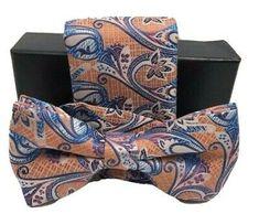 Barcelona Men's Bow Tie & Hanky Set Orange, Cobalt Blue, Navy & Fuchsia | eBay Wedding Ties, Tie And Pocket Square, Silk Ties, Cobalt Blue, Mens Fashion, Fashion 2017, Bows, Barcelona, Navy