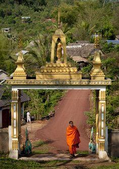 Phra Saek Kham Temple - Laos