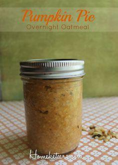 Overnight Oatmeal - Pumpkin Pie