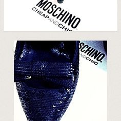 💯 authentic Moschino sequins shoes ❤️ ❤️ I LOVE MOSCHINO Cheap&Chic shoes ❤️  They are Glamorous , a must have classy , timeless pair of shoes in your closet ♥️ moschino Shoes