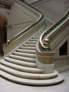 30 Lovely Grand Staircase Design Ideas For Amazing Home - Page 17 of 30 Spiral Staircase, Grand Staircase, Staircase Design, Wall Pannels, Stairs To Heaven, Rome Tours, Marble Stairs, Scottish Castles, Mansions Homes