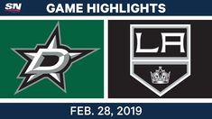NHL Highlights | Stars vs. Kings - Feb 28, 2019 - #Hockey  #sport #sportvideos #sporthighlights #shareonsport #videoshare Sports Highlights, Match Highlights, Hockey Sport, Soccer League, All Video, Nhl, King, Stars, Sterne