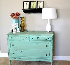 love the color of the refurnished dresser