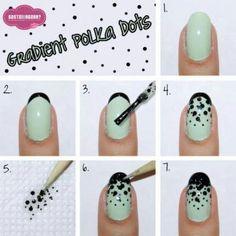 How to polka dot nails --- gradient [#PolkaDot, #NailArt, #HowTo]