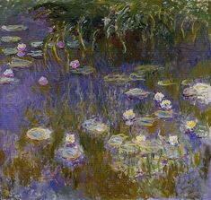 Claude Monet Paintings, Yellow and Lilac Water-Lilies Renoir, Google Art Project, Monet Paintings, Impressionist Paintings, Abstract Paintings, Painting Art, Landscape Paintings, Artist Monet, Toledo Museum Of Art