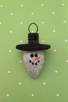 Glitter Light Bulb Ornament by ElleColes on Etsy, $3.99