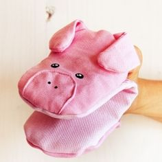 Pig pot holder with tutorial (in Italian)