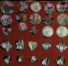 Martisoare din piele pictata, culori pentru piele, dimensiuni si forme diferite