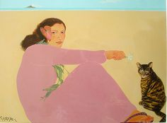 Waimanalo Popoki, original acrylic on canvas by Pegge Hopper Pegge Hopper, Hawaiian Art, Figure Drawing, Figurative Art, Pretty Pictures, Painting Inspiration, Art History, Giclee Print, Printmaking