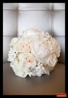 Boston Wedding Photography, Boston Event Photography, Wedding Bouquet, White Bridal Bouquet, Roses and Peonies Bouquet, Bridal Bouquet Inspiration, Wedding Flowers