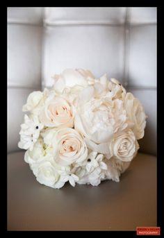 Boston Wedding Photography, Boston Event Photography, Wedding Bouquet, White Bridal Bouquet, Roses and Peonies Bouquet, Bridal Bouquet Inspiration, Wedding Flowers