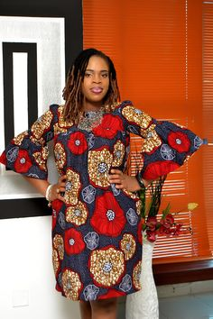 Bella Comfy Bell Sleeves Ankara Dress