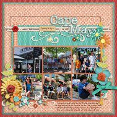 Cape May - Scrapbook.com - #scrapbooking #layouts #digital