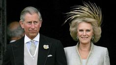 Feather hat Prince Charles and his bride Camilla  Duchess of Cornwall