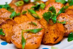 Grilled Sweet Potatoes with Lime and Cilantro. Easy 4 Ingredient #Recipe! #Vegan