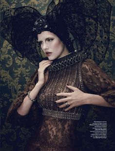 """""""Royal"""": Ashley Smith by Sherif Hamza for Vogue Russia, December 2010"""
