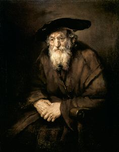 The artwork Portrait of an Old Jew - Rembrandt, Hamerszoon van Rijn we deliver as art print on canvas, poster, plate or finest hand made paper. Rembrandt Portrait, Rembrandt Paintings, Old Paintings, Beautiful Paintings, Vincent Van Gogh, Baroque Art, Dutch Painters, Renaissance, Old Art