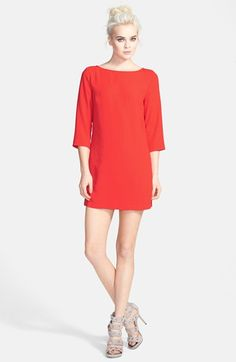 Free shipping and returns on Tildon Boatneck Crepe Shift Dress at Nordstrom.com. Silky chiffon shapes this ultra-mod shift cut with a sleek bateau neckline, three-quarter-length sleeves and a spine-tinglingly spliced keyhole back.