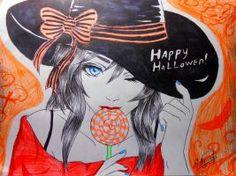 """Happy halloween""by nya"
