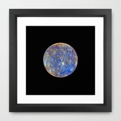 Mercury Framed Art Print by Planet Prints - $31.00