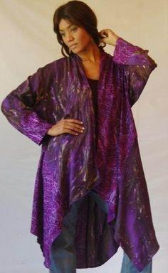 U808 Jacket Cascade Lagenlook Boho Batik Print Made 2 Order Choose Size Color | eBay