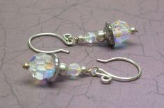 A Winter Ice Storm VI Swarovski Crystal Earrings | JewelryByLis - Jewelry on ArtFire