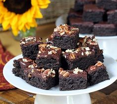 Recipes, Projects & More - Dark Chocolate Zucchini Brownies