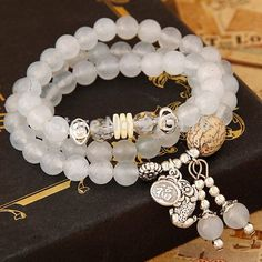 Fashion boutique New Natural Stone Bracelet multi-layer Opal circle fashion all-match Beads Bracelet
